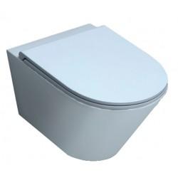 Vaso Sospeso Senza Brida Forma Azzurra Ceramica Bianco Lucido