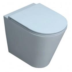 Vaso Filomuro Senza Brida Forma Azzurra Ceramica Bianco Lucido