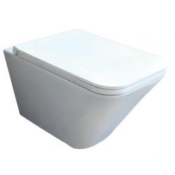 Vaso Sospeso Senza Brida Build Azzurra Ceramica Bianco Lucido