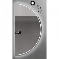 Specchio da Bagno Semicircolare con Altoparlante Bluetooth + Orologio Retroilluminato led 20W art. Dalia9