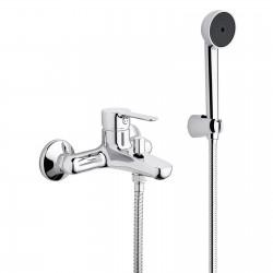 MISCELATORE MONOCOMANDO per vasca esterno PAINI P3 con doccia Duplex