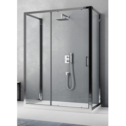 Box Doccia da Centro Stanza ad U Cristallo 6 mm Profili Cromo Lucidi Altezza 195 cm art. H15