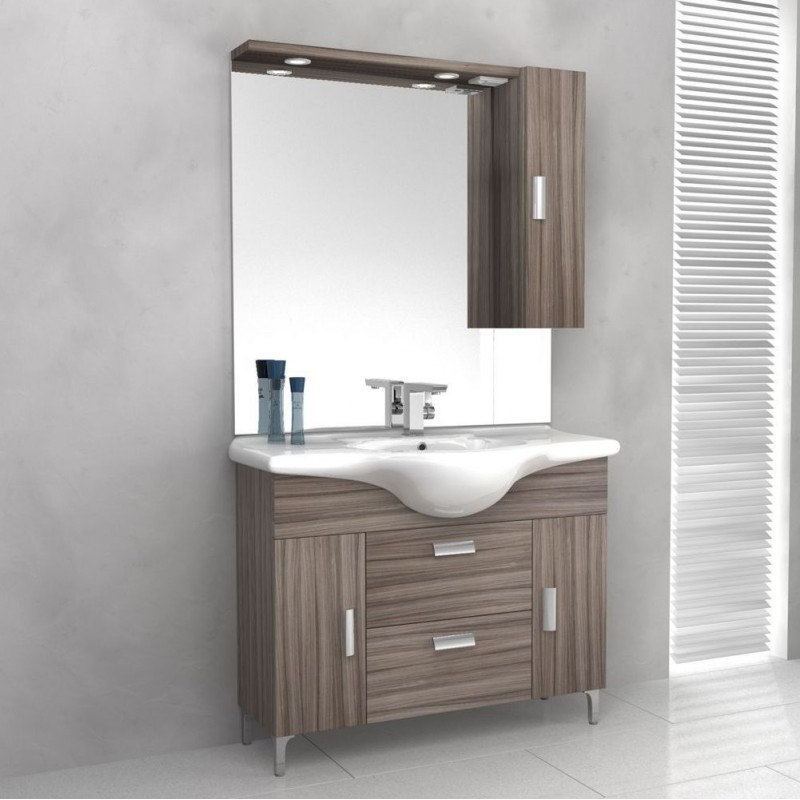 Baden haus mobile da bagno 85 cm rovereto larice for Specchiera bagno