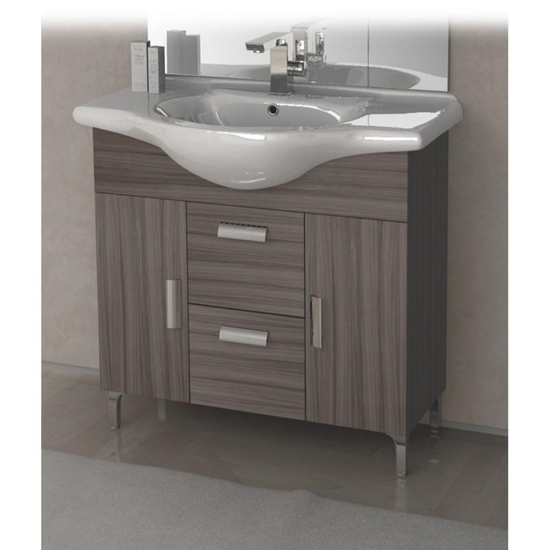 Baden haus mobile da bagno 85 cm rovereto larice - Lavandini da bagno con mobile ...