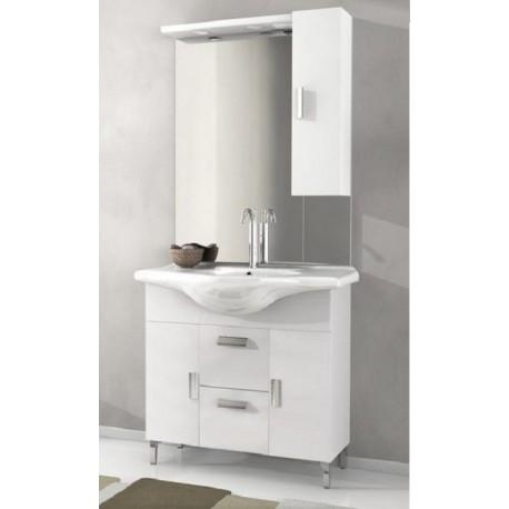 Bade haus mobile da bagno 105 cm rovereto bianco lucido - Bagno bianco lucido ...