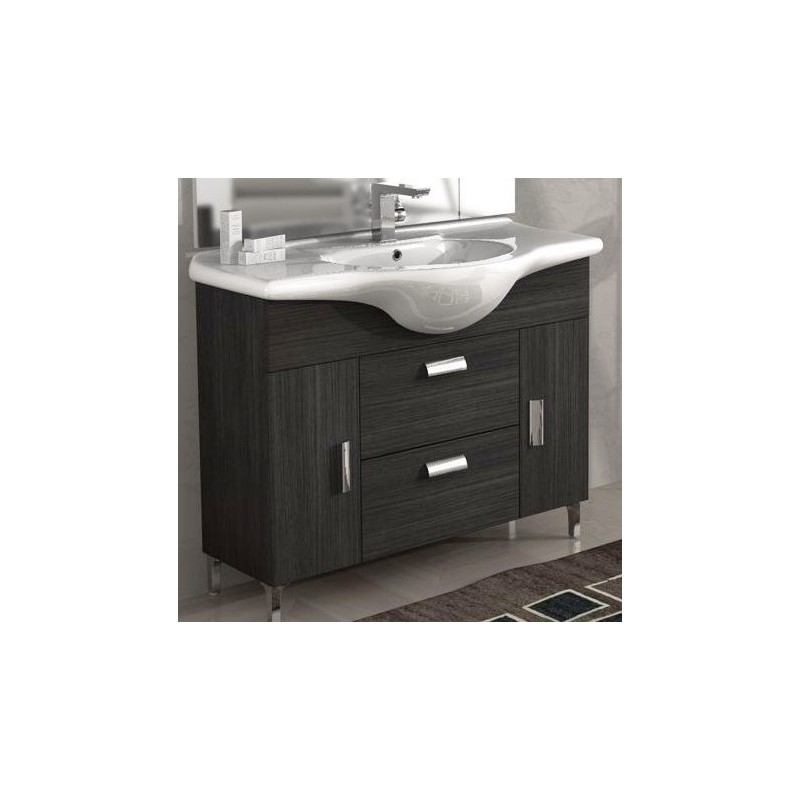 baden haus - mobile da bagno 85 cm rovereto grigio scuro - Lucido Cabinet Grigio Lavandino