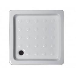 Piatto doccia 70x70 quadrato in ceramica bianca + Piletta Sifonata Diametro 60 mm.