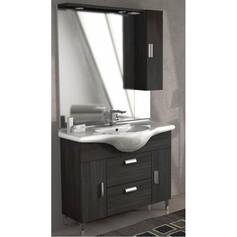 Baden haus mobile da bagno 105 cm rovereto grigio scuro for Mobile bagno da terra