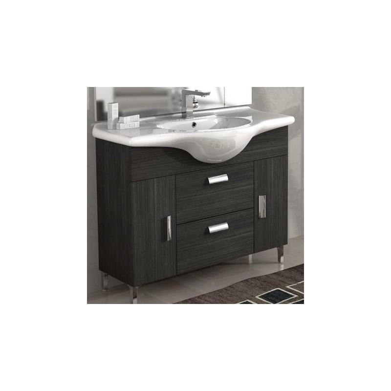 Baden haus mobile da bagno 105 cm rovereto grigio scuro - Mobile bagno grigio ...