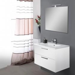 Mobile da bagno Ruby sospeso da 80 cm bianco con specchio lampada led