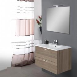 Mobile da bagno Ruby sospeso da 80 cm cordoba con specchio lampada led