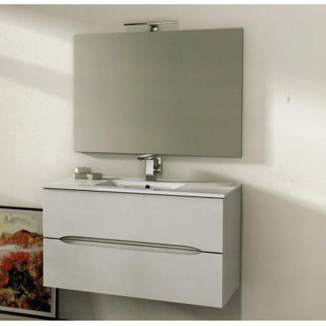 Baden haus mobile da bagno 100 cm frassino bianco sospeso - Mobili bagno catalano ...