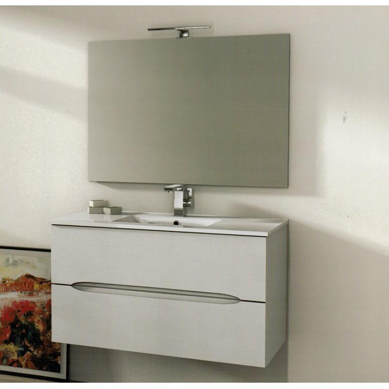 Baden haus mobile da bagno 100 cm frassino bianco sospeso - Mobile da bagno con lavabo ...