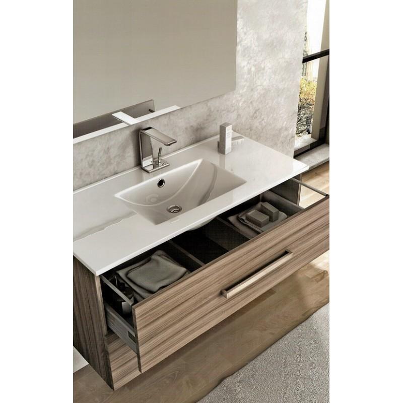 Baden haus mobile da bagno 100 cm marta larice sospeso for Mobile bagno 100 cm