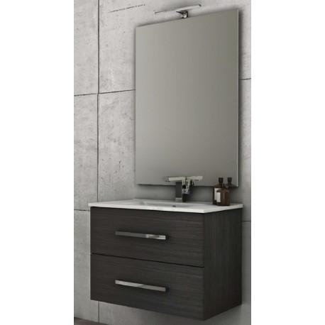 Baden haus   mobile da bagno 100 cm grigio scuro sospeso