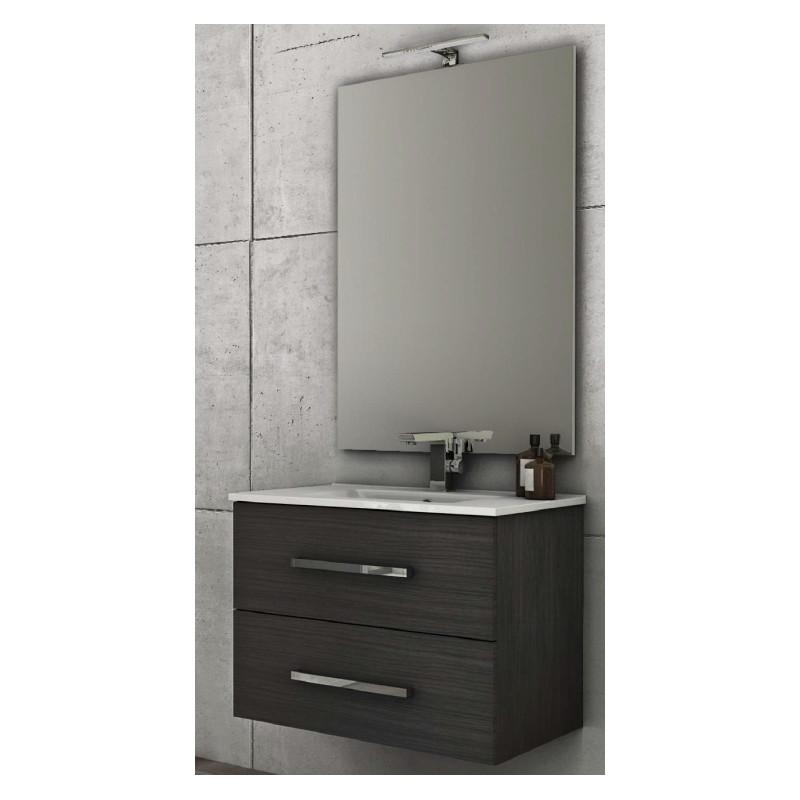 Baden haus mobile da bagno 100 cm grigio scuro sospeso - Mobile bagno 100 cm ...