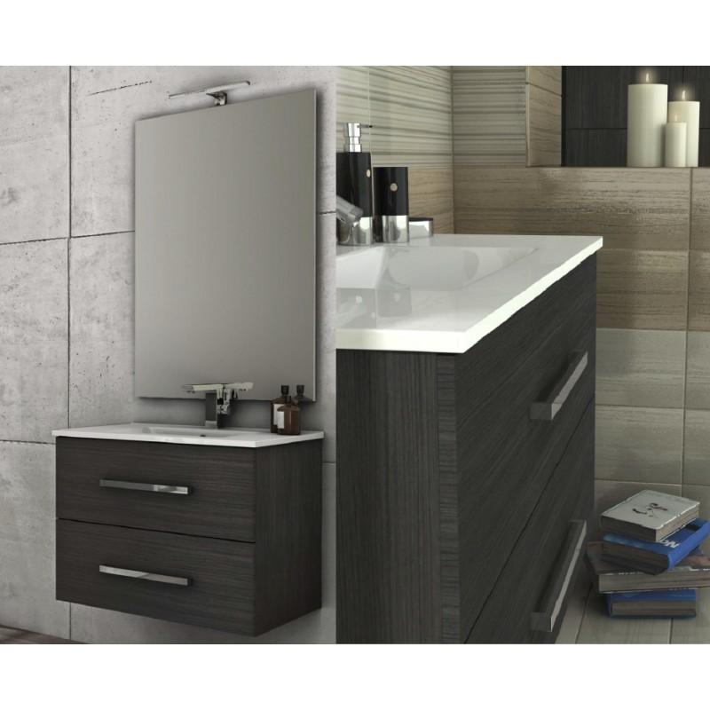 Baden haus mobile da bagno 100 cm grigio scuro sospeso for Mobile bagno 100 cm