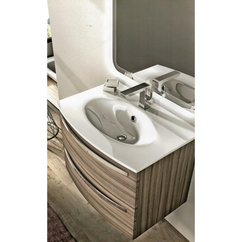Baden haus mobile da bagno james sospeso 75 cm larice for Badezimmermobel 75 cm