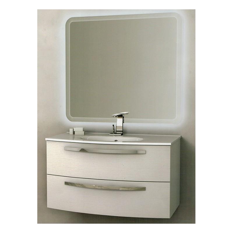 Baden haus mobile da bagno james sospeso da 100 cm frassino bianco - Mobile bagno 100 cm ...