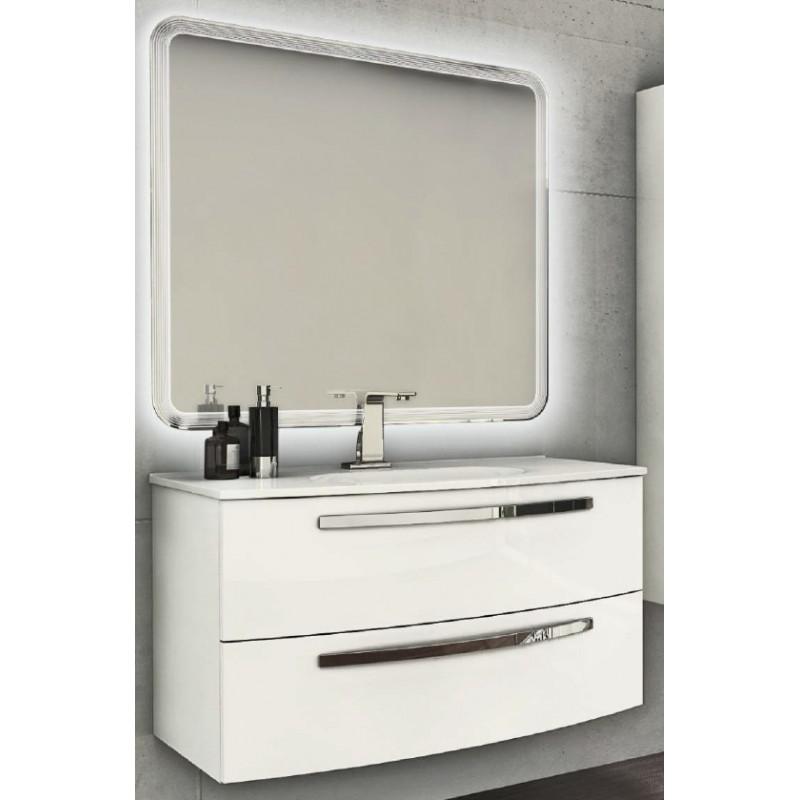 Baden Haus - Mobile da Bagno Sospeso da 100 cm Bianco Lucido