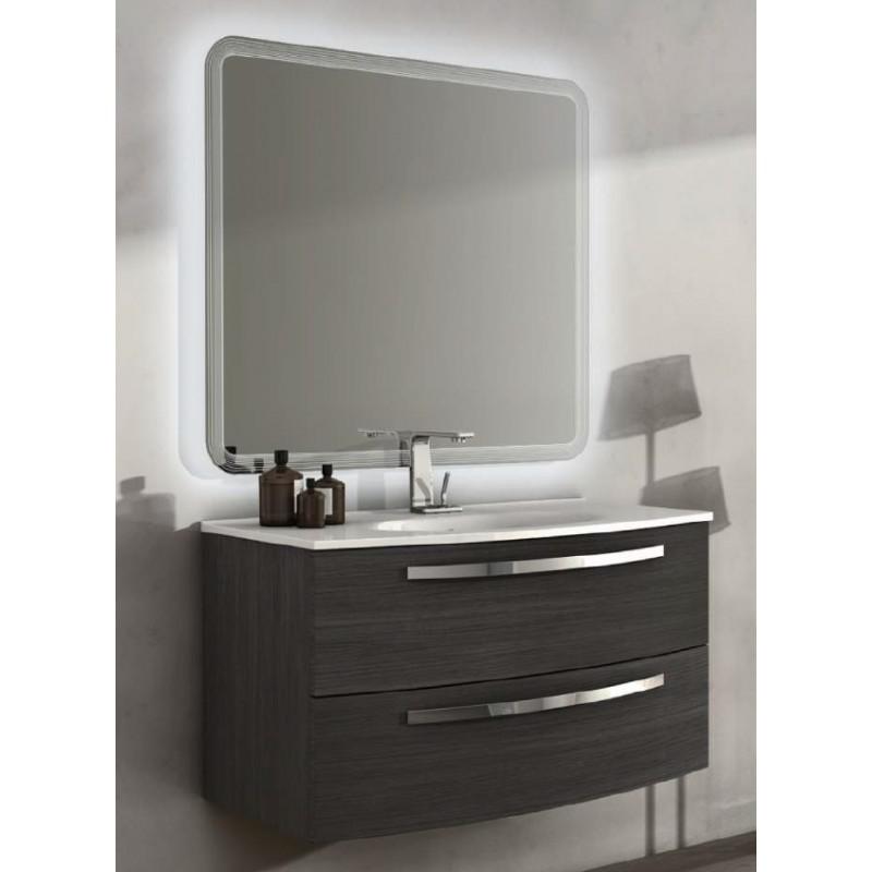 Baden haus mobile da bagno sospeso 100 cm grigio scuro - Mobile bagno 100 cm ...