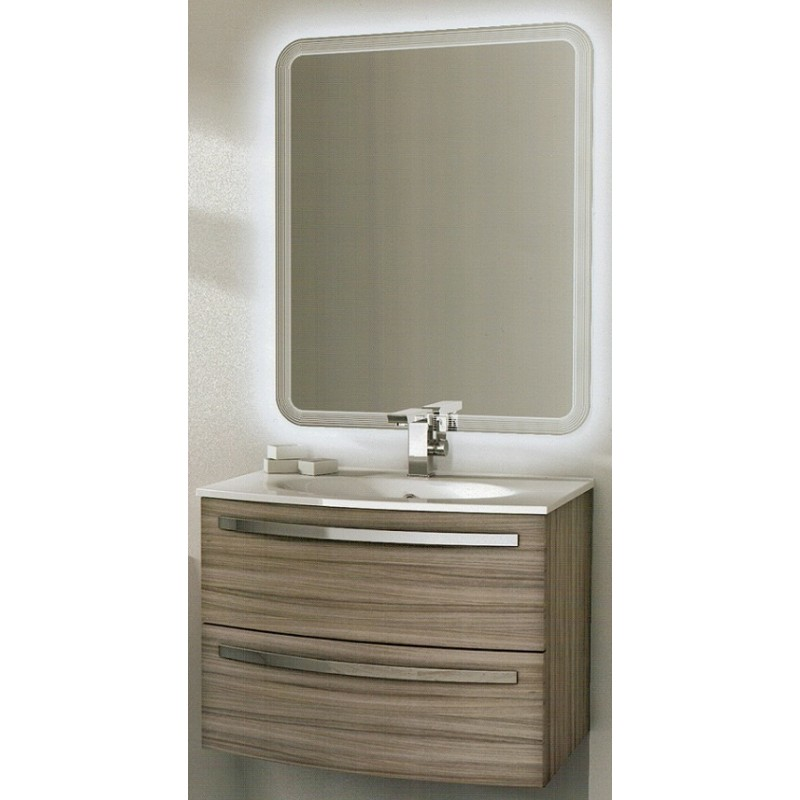 Baden haus mobile da bagno james sospeso 75 cm larice for Mobile bagno 120 cm