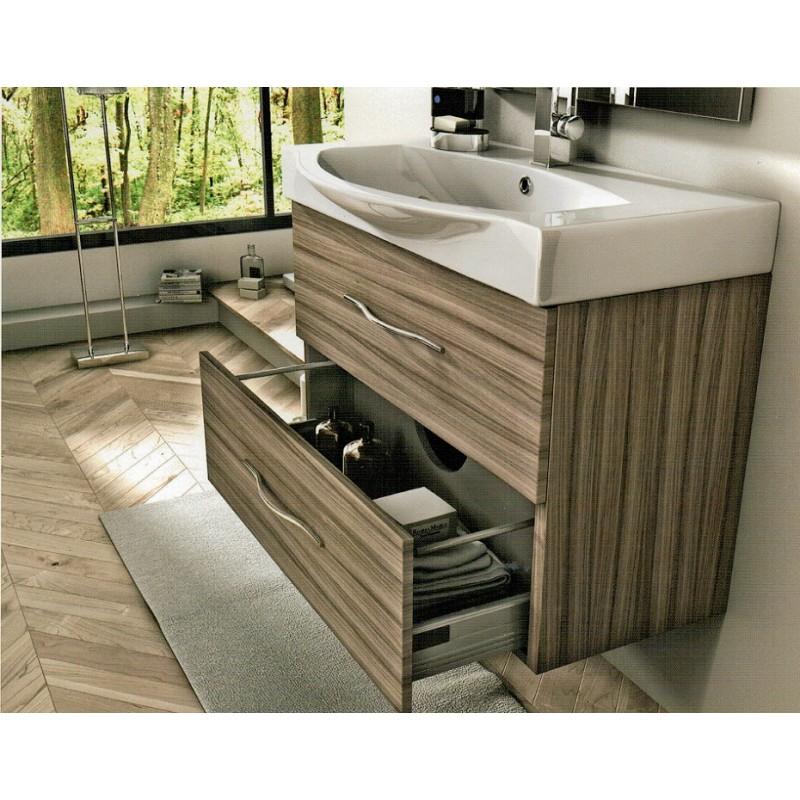 Baden haus mobile da bagno sospeso new york da 85 cm larice - Mobile bagno da 90 ...