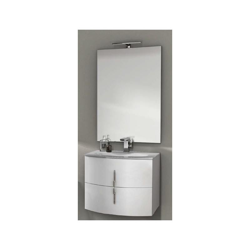 baden haus mobile da bagno sospeso 70 cm sting bianco lucido