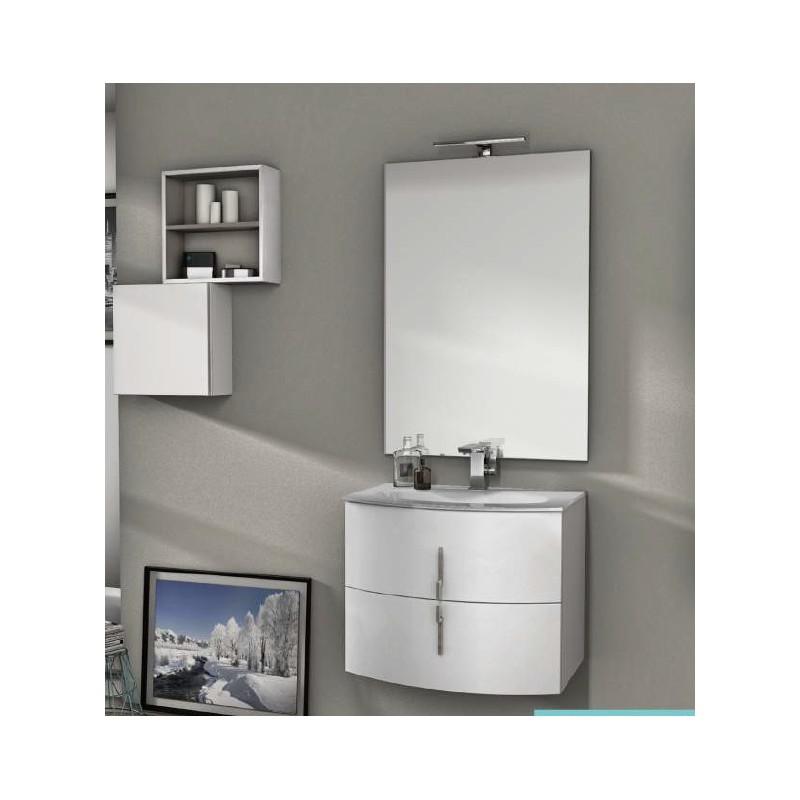 Baden haus mobile da bagno sospeso 70 cm sting bianco lucido - Bagno bianco lucido ...