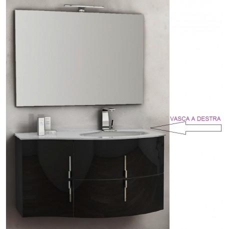 Baden haus mobile da bagno sospeso 104 cm sting nero lucido - Mobile bagno nero lucido ...