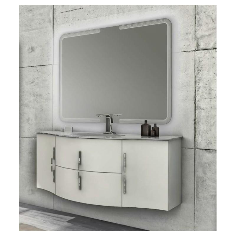 Baden haus mobile da bagno sospeso 138 cm sting grigio lucido - Mobile sospeso bagno ...