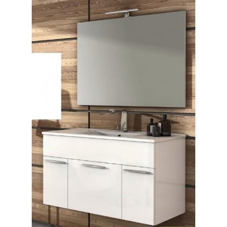 Baden haus mobile da bagno sospeso 100 cm barbados bianco lucido - Mobile bagno sospeso 100 cm ...