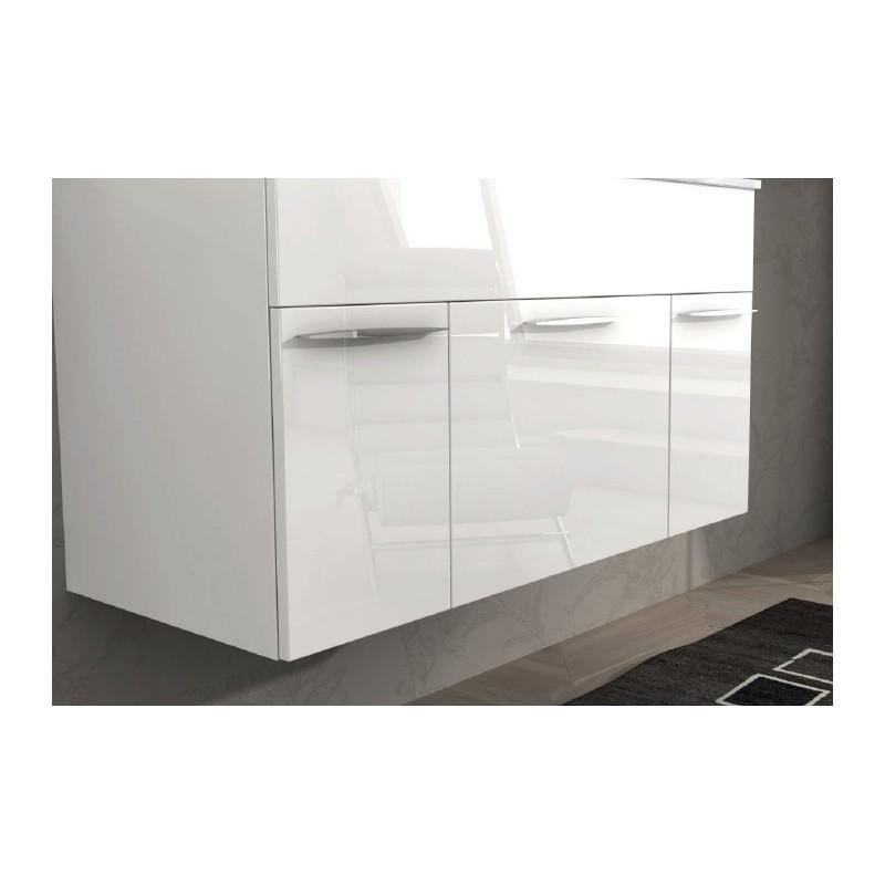 Baden haus mobile da bagno sospeso 100 cm barbados - Bagno bianco lucido ...