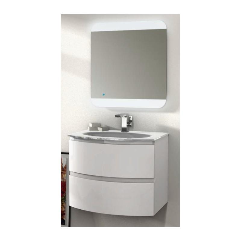 Baden haus mobile da bagno sospeso 70 cm vague bianco for Mobile sospeso bagno