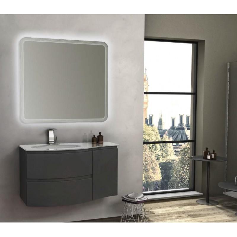 Baden haus mobile da bagno sospeso 104 cm vague antracite - Mobile da bagno sospeso ...