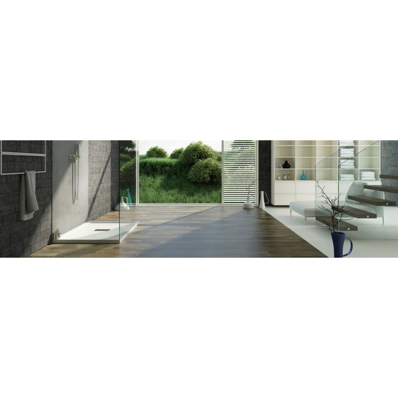 Piatto doccia in vetroresina altezza 4 cm con piletta - Piatti doccia in vetroresina ...