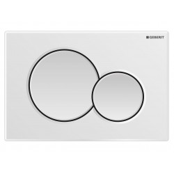 Placca Geberit Sigma 01 Colore Bianco a Due Pulsanti