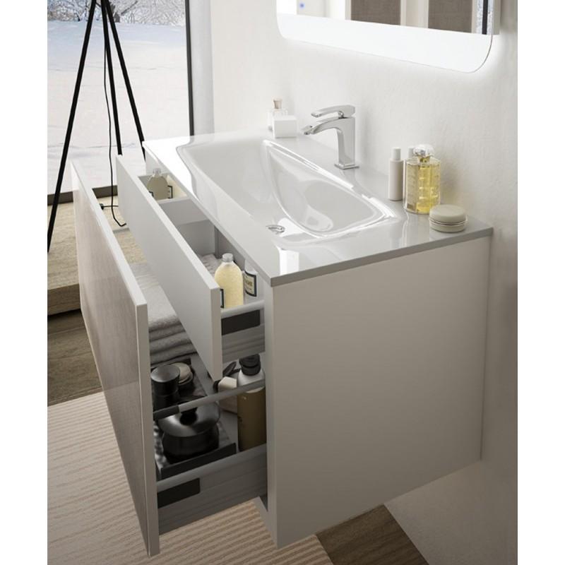 Baden haus mobile da bagno sospeso 100 cm roxanne bianco opaca - Mobile bagno 100 cm ...