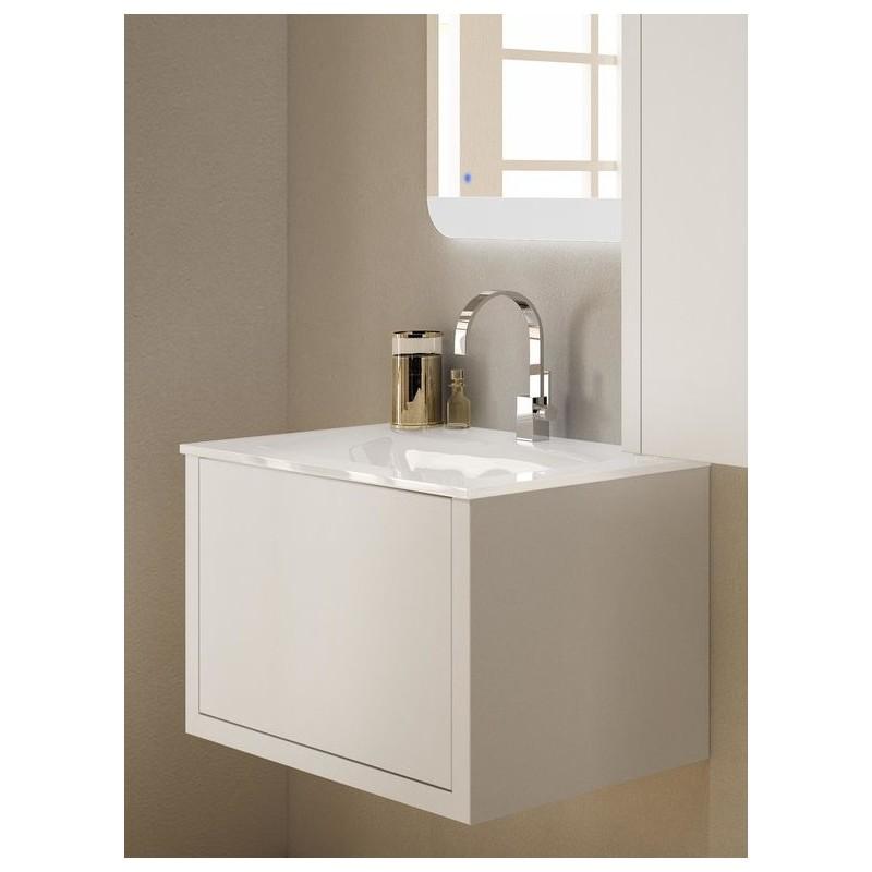 Baden haus mobile da bagno sospeso 100 cm roxanne bianco opaca - Mobile bianco bagno ...
