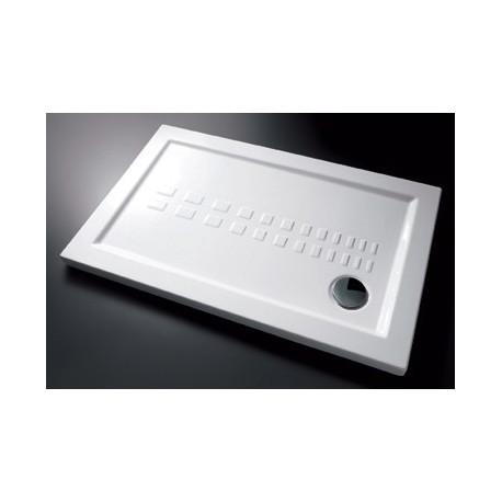 Piatto doccia slim 80x140 cm rettangolare in porcellana for Piatto doccia rettangolare