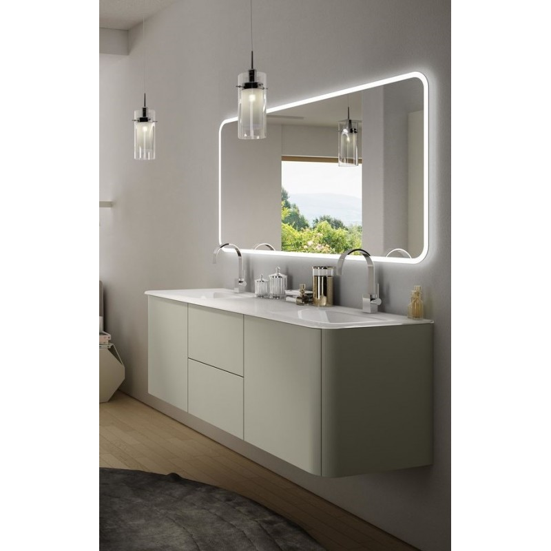 Baden haus mobile da bagno sospeso 140 cm liverpool grigio for Mobile da bagno