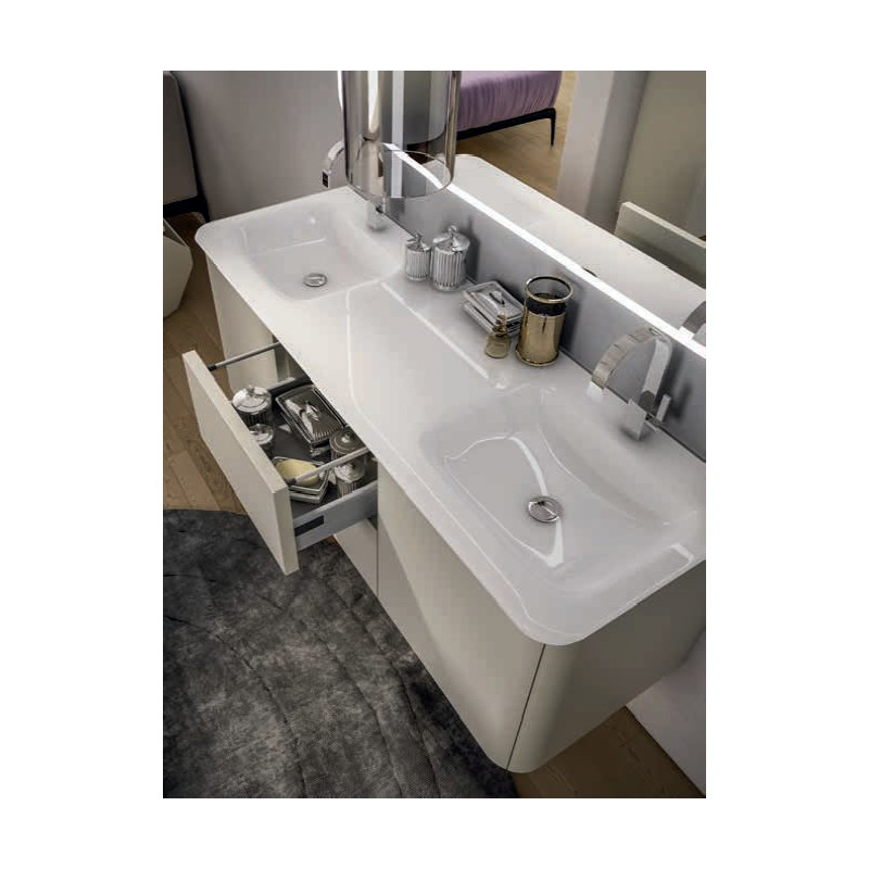 Baden haus mobile da bagno sospeso 140 cm liverpool grigio for Vendo mobile bagno