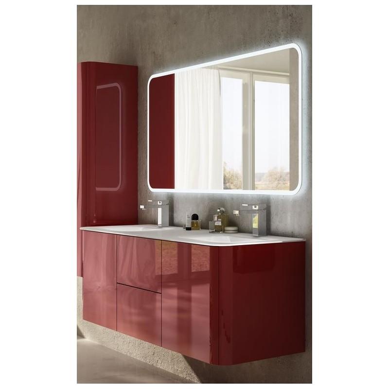 Baden haus mobile da bagno sospeso 140 cm liverpool rosso for Mobili bagno 140 cm