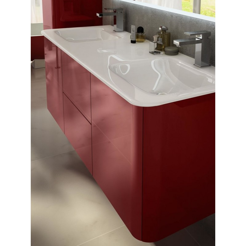 Baden haus mobile da bagno sospeso 140 cm liverpool rosso for Mobile da bagno