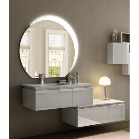 Baden haus mobile da bagno sospeso 100 cm avril bianco - Mobile bagno sospeso 100 cm ...