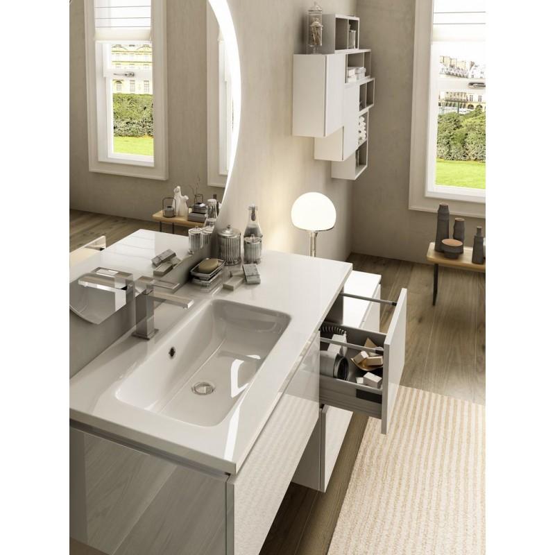 Baden haus mobile da bagno sospeso 100 cm avril bianco for Mobile bagno 100 cm