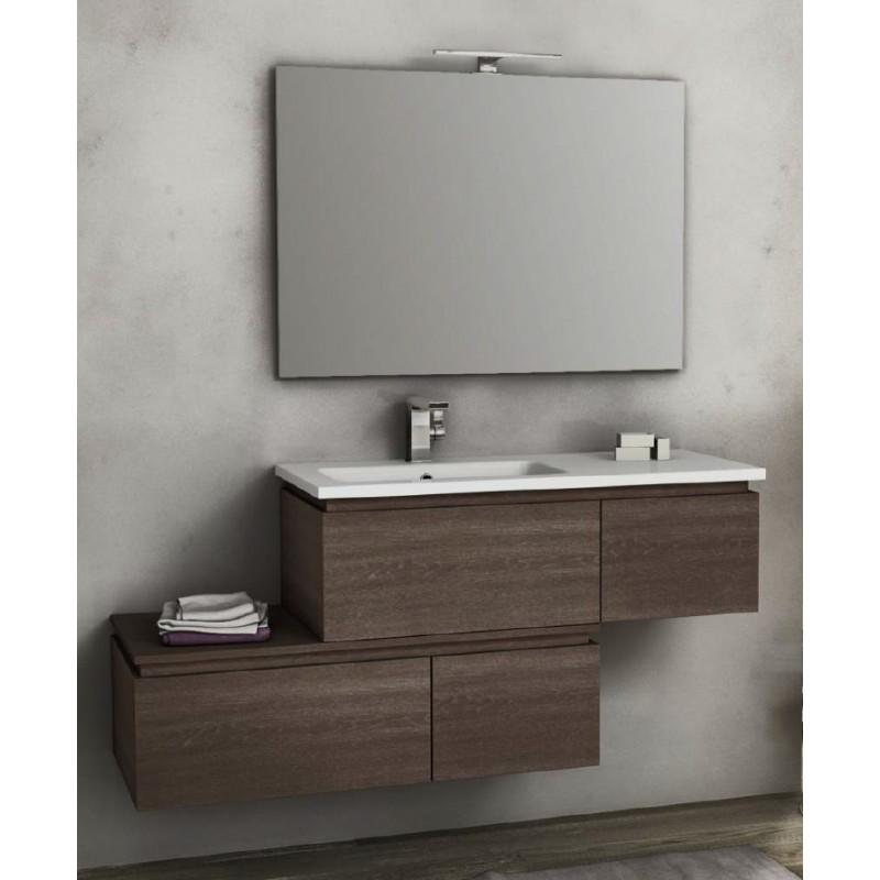 Baden haus mobile da bagno sospeso 100 cm avril rovere scuro for Mobile da bagno
