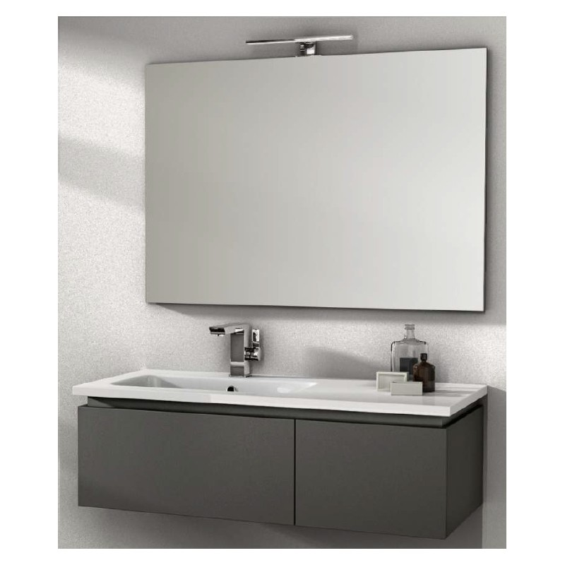 Baden haus   mobile da bagno sospeso 100 cm avril grigio