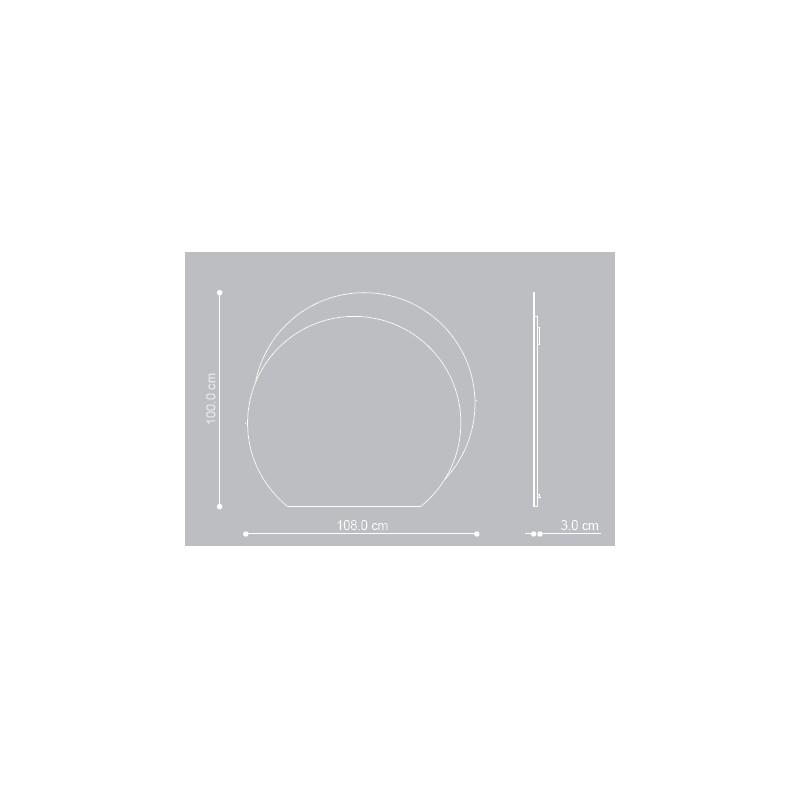 Baden haus - Mobile da Bagno Sospeso 100 cm Avril Bianco