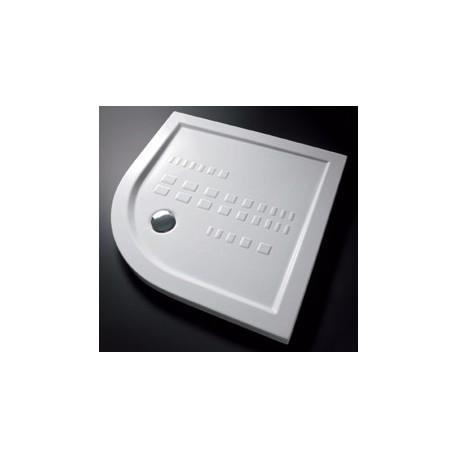Piatto Doccia Slim 90x90 H 5,5 cm ad angolo curvo in Porcellana